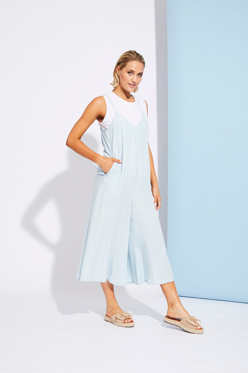 Riviera Jumpsuit - Bleu - Isle of Mine Clothing - Jumpsuit Long