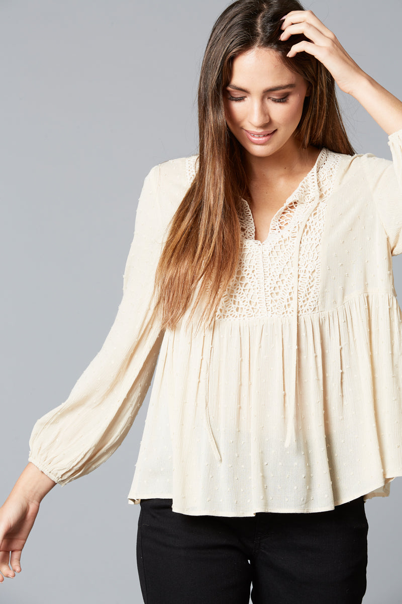 Lover Blouse - Ivory - Isle of Mine Clothing - Top L/S