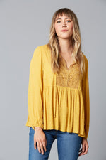 Lover Blouse - Saffron - Isle of Mine Clothing - Top L/S