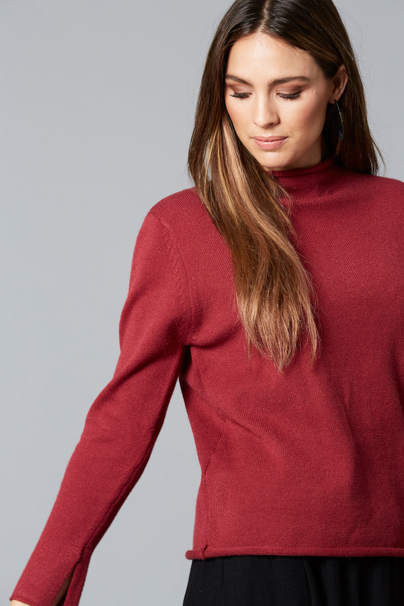 Simple Knit - Plum - Isle of Mine Clothing - Knit Jumper