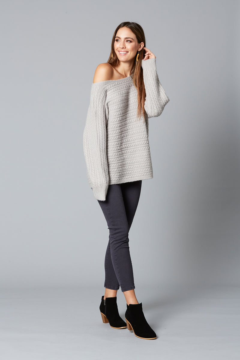 Cozy Knit - Pewter - Isle of Mine Clothing - Knit Jumper