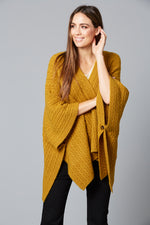 Cozy Throw - Saffron - Isle of Mine Clothing - Knit Cape