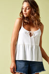 Ivy Palm Tank - Salt - Isle of Mine Clothing - Top Sleeveless