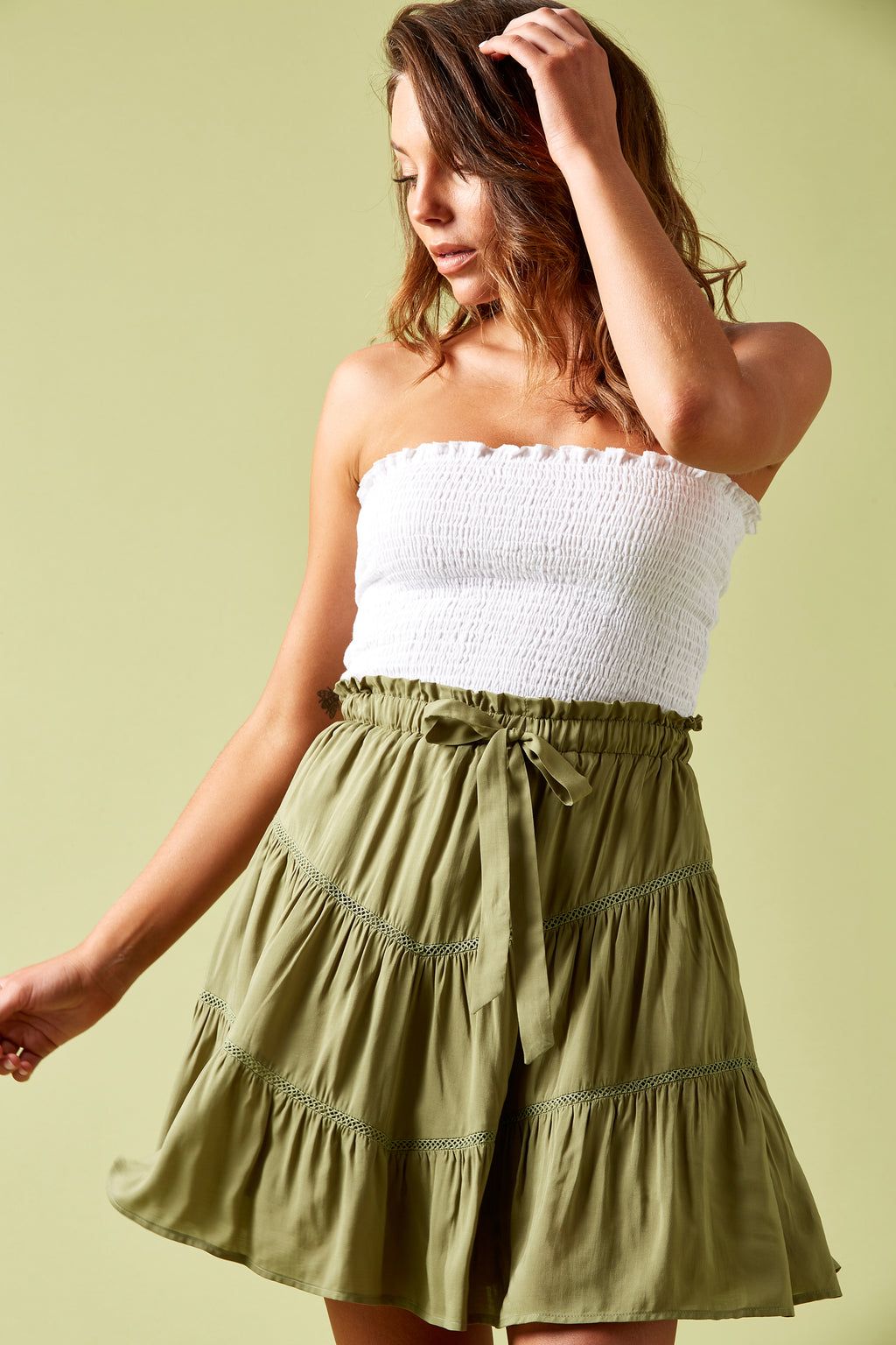 Marquis Mini - Moss - Isle of Mine Clothing - Skirt Mini