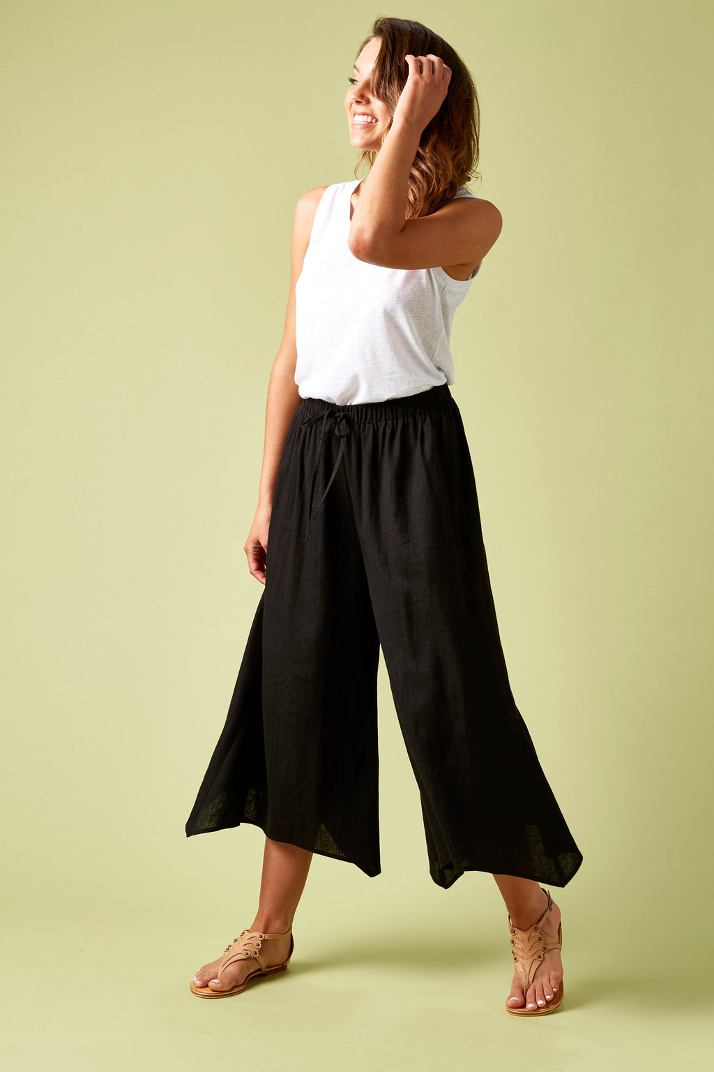 The Hoxton Pant - Black - Isle of Mine Clothing - Pant Relaxed Linen