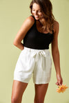The Hoxton Short - Salt - Isle of Mine Clothing - Short Linen