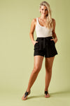 The Hoxton Short - Black - Isle of Mine Clothing - Short Linen