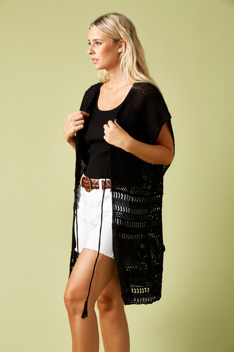 Colony Cape - Black - Isle of Mine Clothing - Knit Cape