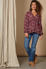 Revival Frill Top - Cherry - Isle of Mine Clothing - Top L/S