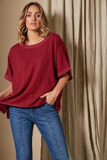 Solace Top - Rose - Isle of Mine Clothing - Top S/S One Size Linen