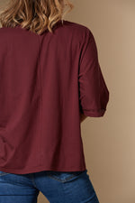New Dawn Tshirt - Merlot - Isle of Mine Clothing - Top Tshirt S/S