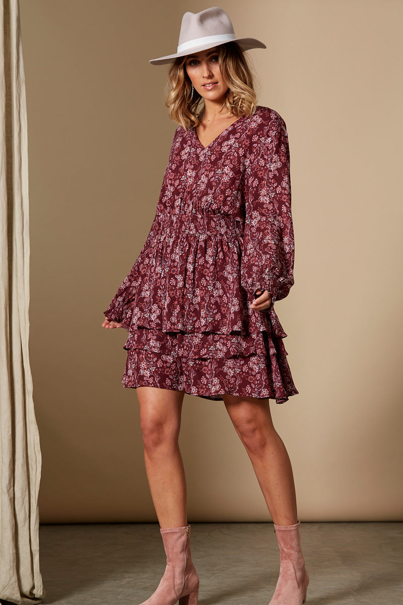 Splendour Dress - Cherry - Isle of Mine Clothing - Dress Mid