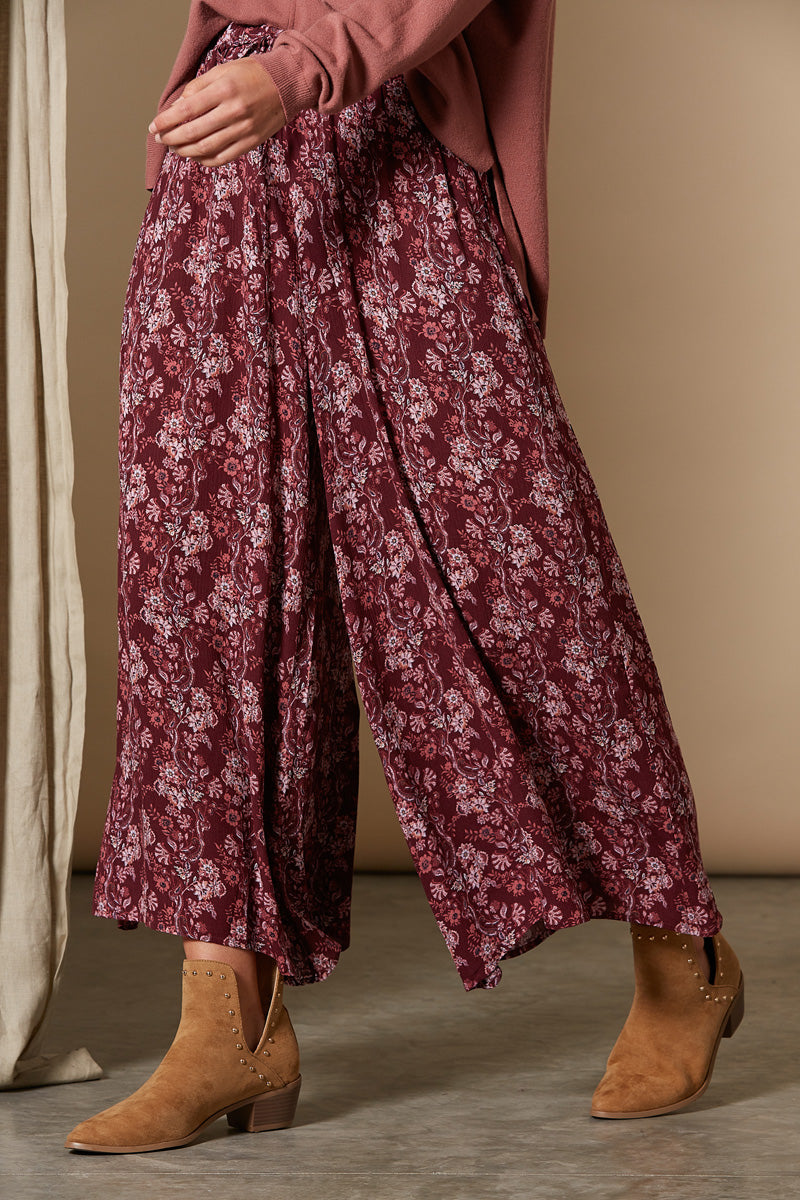 Splendour Pant - Cherry - Isle of Mine Clothing - Pant Wide