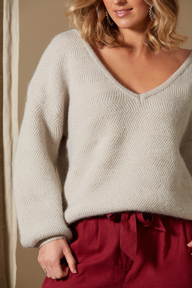 Awaken Knit - Stone - Isle of Mine Clothing - Knit Jumper