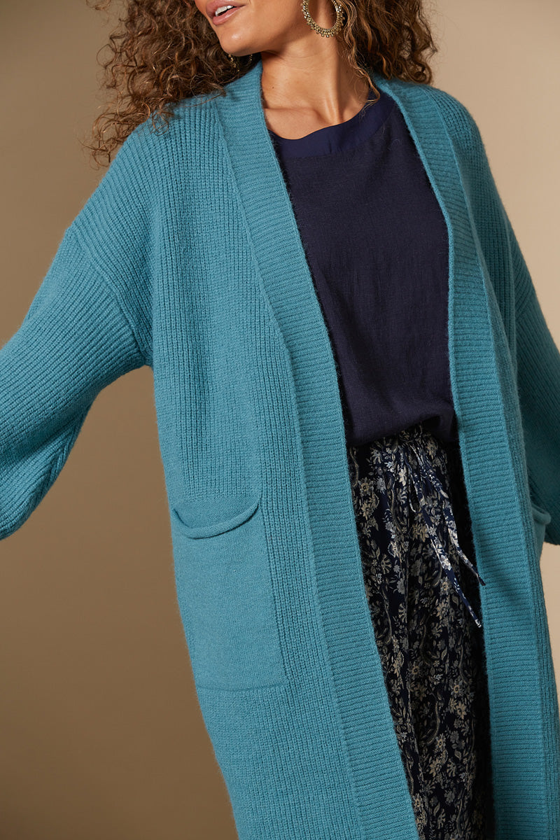 Awaken Cardigan - Teal - Isle of Mine Clothing - Knit Cardigan One Size