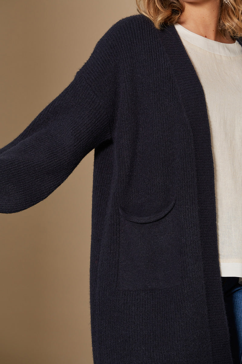 Awaken Cardigan - Indigo - Isle of Mine Clothing - Knit Cardigan One Size