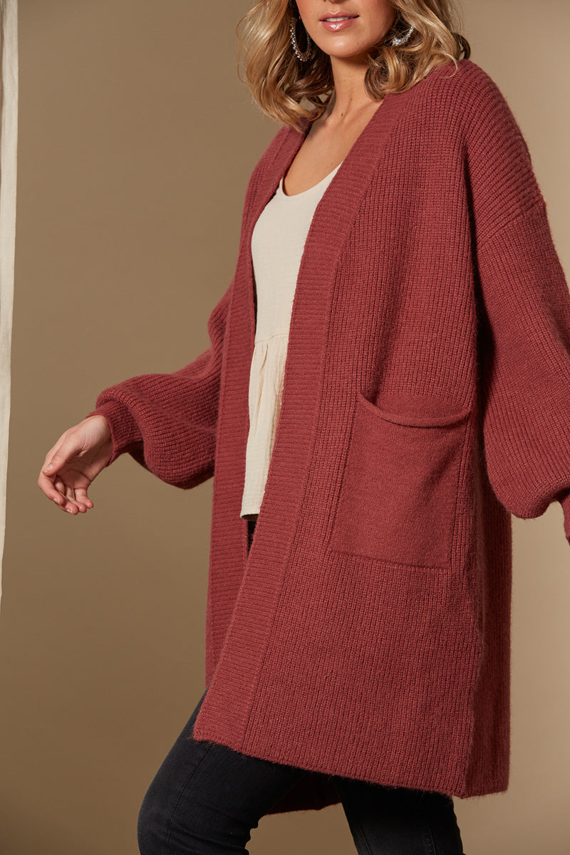 Awaken Cardigan - Clay - Isle of Mine Clothing - Knit Cardigan One Size