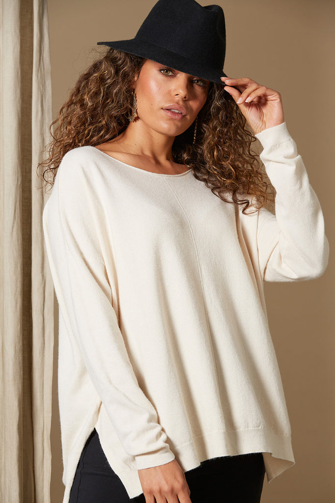 Clarity Knit - Creme - Isle of Mine Clothing - Knit Jumper One Size