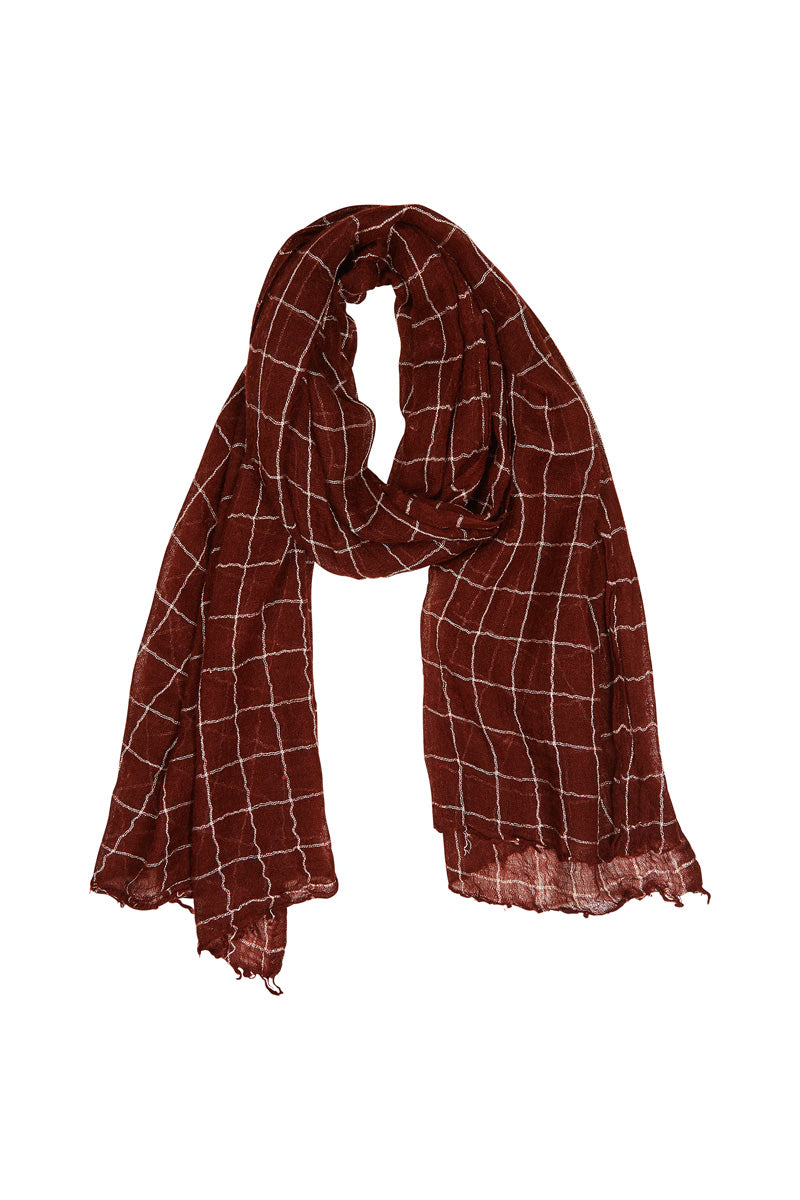 Samsara Scarf - Cherry - Isle of Mine Scarves