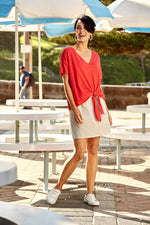 Cote D'Azur Tee - Rouge - Isle of Mine Clothing - Top Tshirt