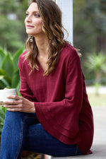 Solace Tulip Top - Rose - Isle of Mine Clothing - Top L/S Linen