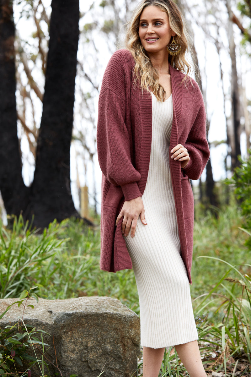 Clarity Knit Dress - Creme - Isle of Mine Clothing - Knit Dress Long