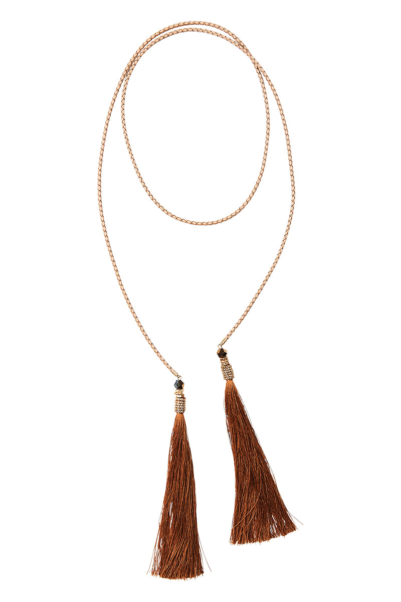 Esterel Tassel - Tan - Isle of Mine Necklace