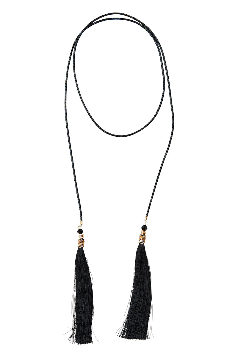 Esterel Tassel - Onyx - Isle of Mine Necklace