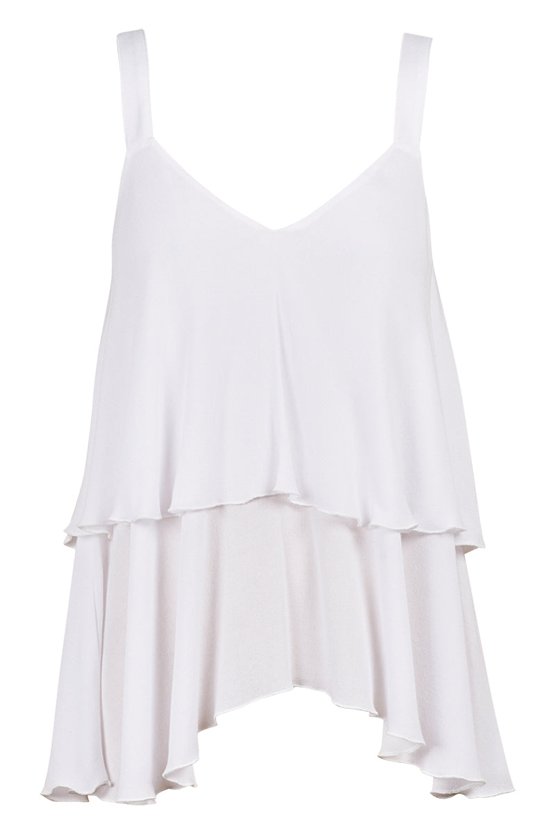 Riviera Tank - White - Isle of Mine Clothing - Top Sleeveless
