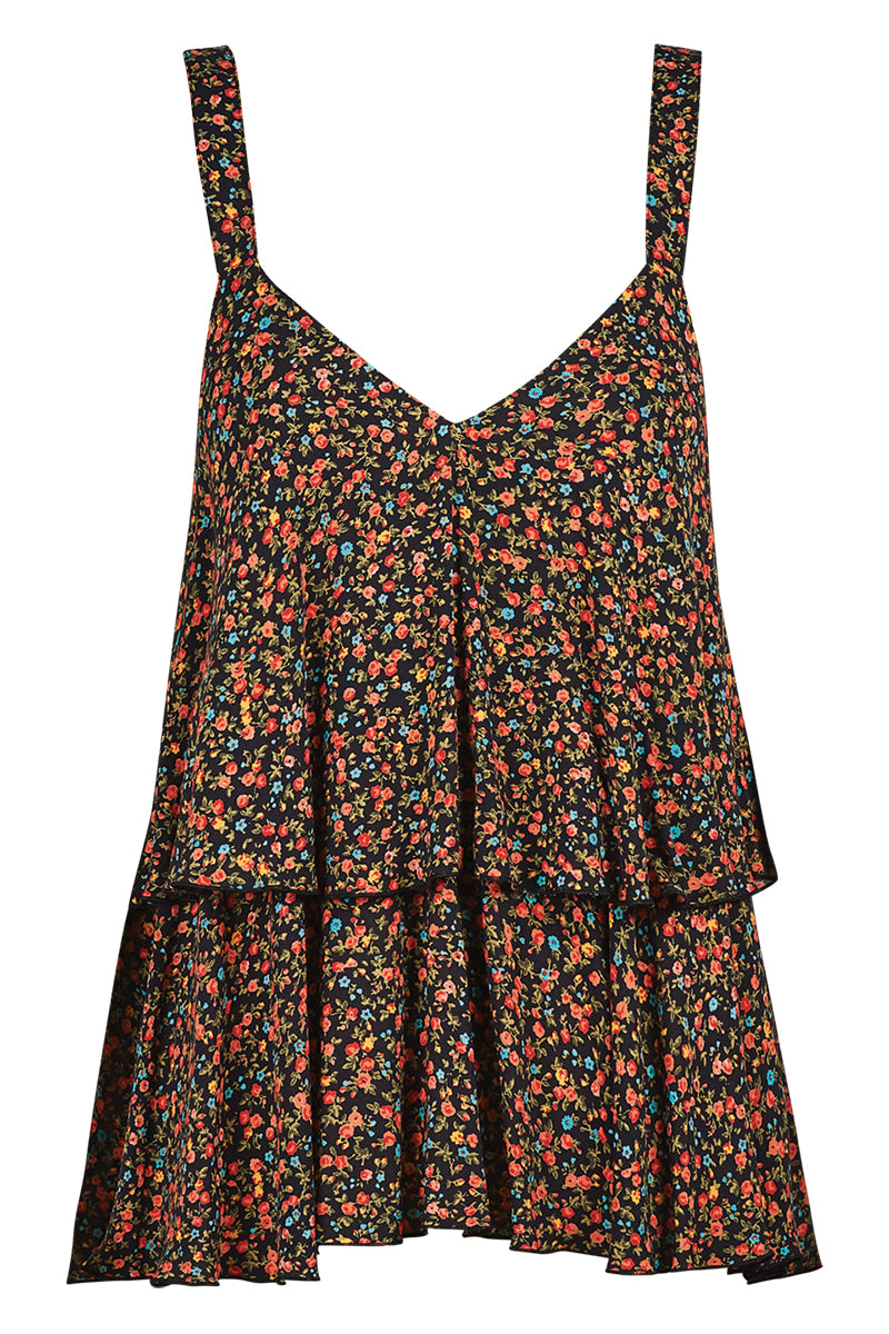 Riviera Tank - Black Posy - Isle of Mine Clothing - Top Sleeveless