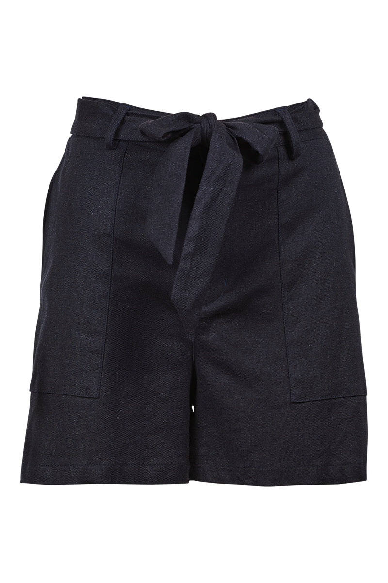 Nice Shorts - Navy Blue - Isle of Mine Clothing - Short Linen