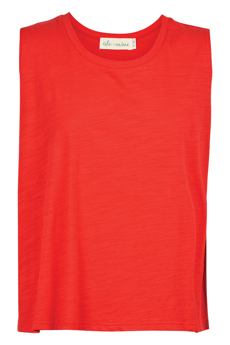 Cote D'Azur Tank - Rouge - Isle of Mine Clothing - Top S/S