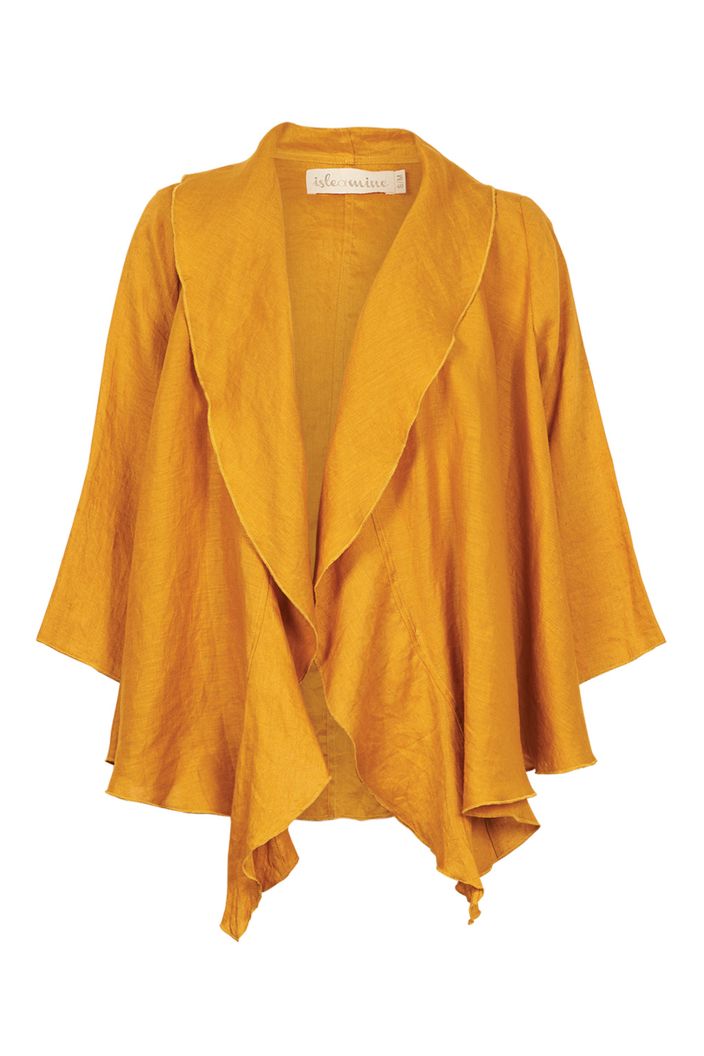 Eve Jacket - Saffron - Isle of Mine Clothing - Jacket Relaxed