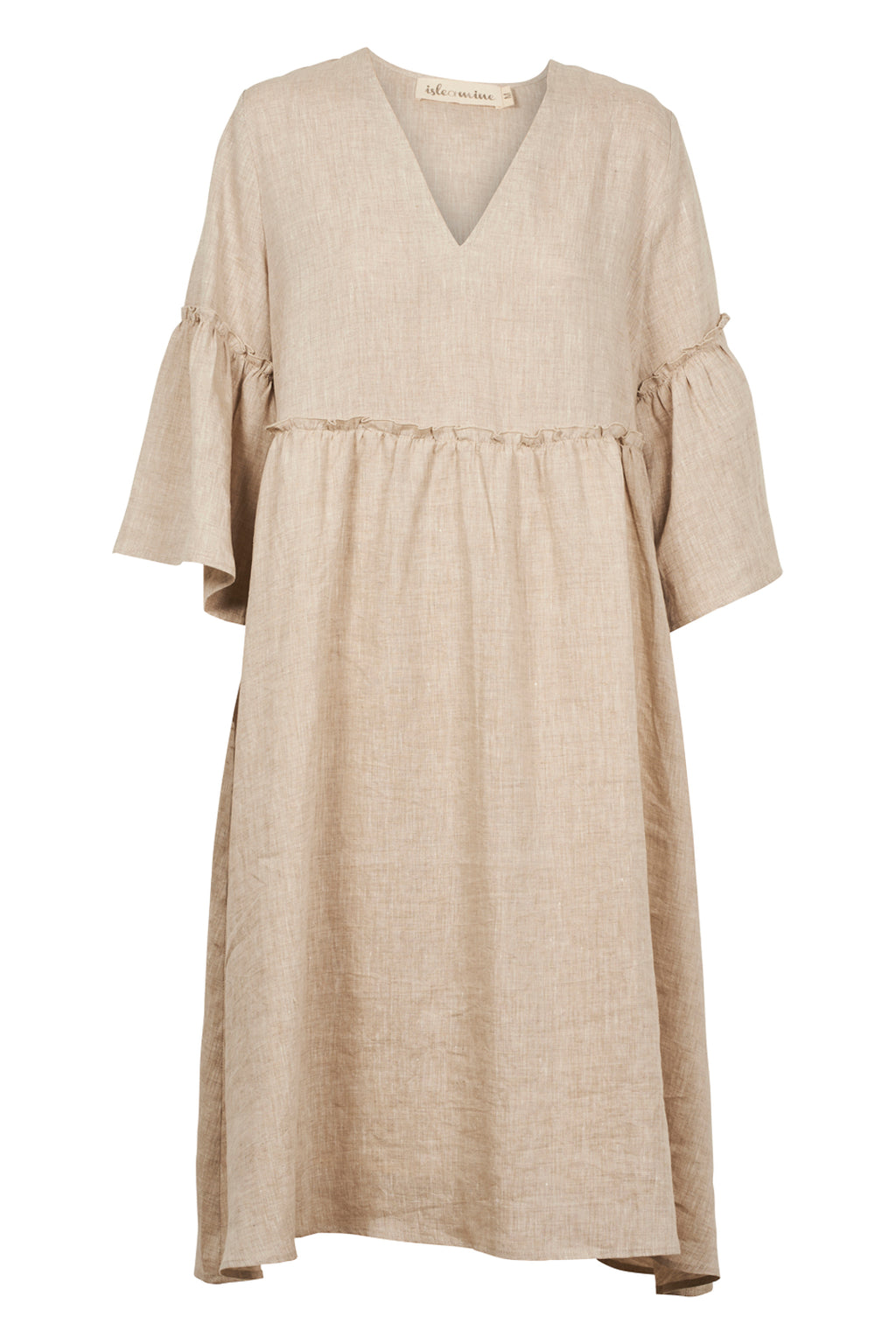 Eve Dress - Wheat - Isle of Mine Clothing - Dress Linen