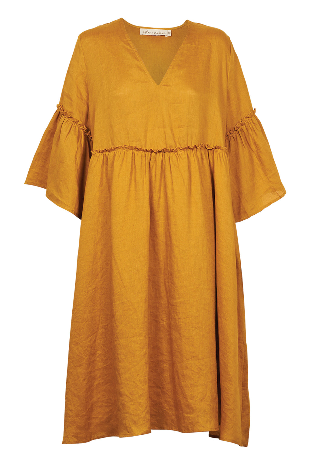 Eve Dress - Saffron - Isle of Mine Clothing - Dress Linen