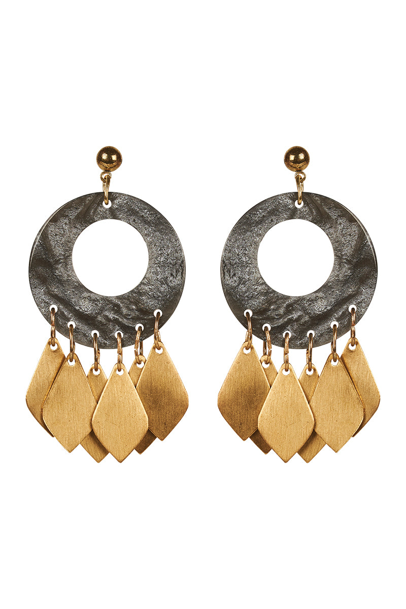 Eve Earring  - Charcoal - Isle of Mine Earring