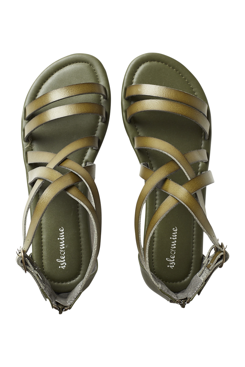 Alcarzar Sandal - Moss - Isle of Mine Footwear - Sandals