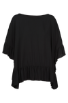 Marquis Frill Top - Black - Isle of Mine Clothing - Top 3/4 Sleeve