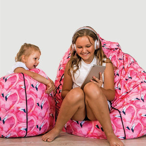 flamingo bean bag cover - large - Snug as a Bug
