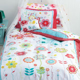 cubby house kids floral spot duvet cover king single size