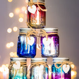 mini ombre sparkle jar