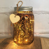 large mercury sparkle jar rose gold