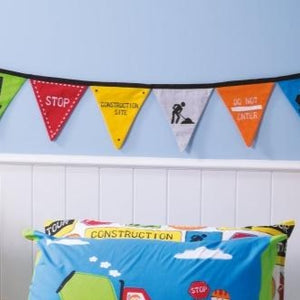 cubby house kids under construction bunting - Snug as a Bug