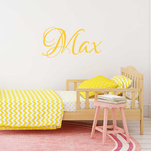 calligraphic personalised name wall decals