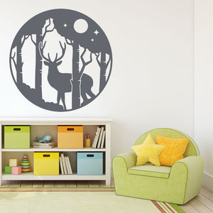 deer in  the forest wall decals