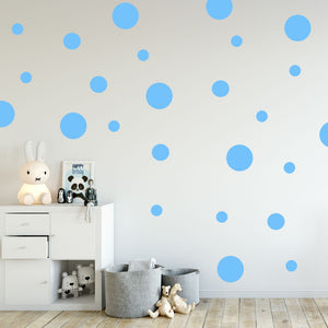 polka dot wall decals assorted size - Snug as a Bug