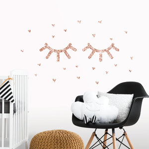 RoomMates Eyelash Peel and Stick Wall Decals With Glitter