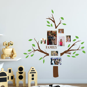 family tree wall decals green leaves