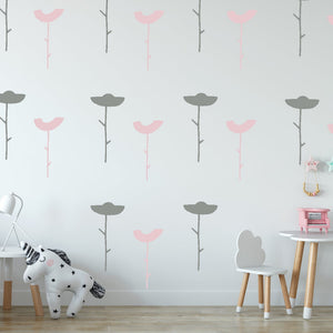 flower wall decals - Snug as a Bug