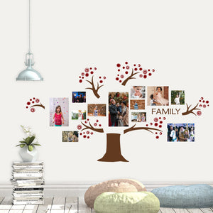 flower family tree wall decals
